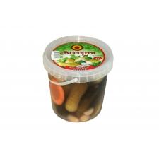 Ассорти из соленых овощей (Томаты, огурцы, чеснок)