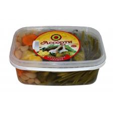 Ассорти из соленых овощей (Огурцы, перец, патиссоны, чеснок, стебли черемши, морковь