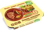 Свинина, запеченная с картофелем по-деревенски и томатным соусом